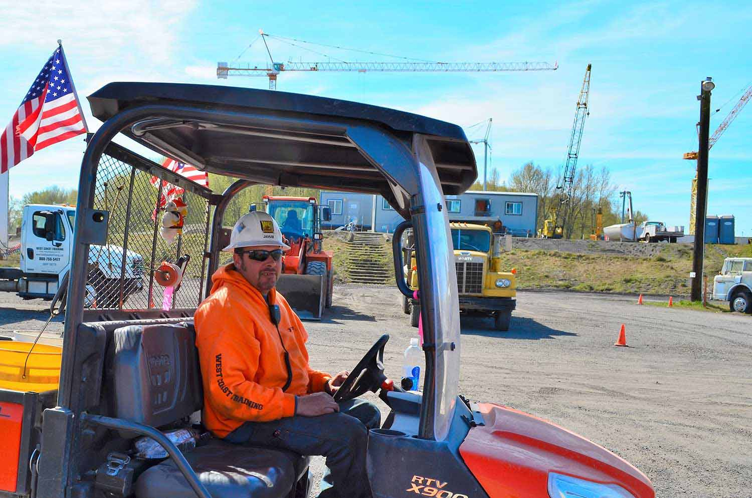Josh McClure - Heavy Equipment Instructor - Driving a RTV